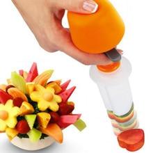 Creative Fruit Cutter Cooking Tools Plastic Fruit Shape Cutter Slicer Veggie Food Decorativ