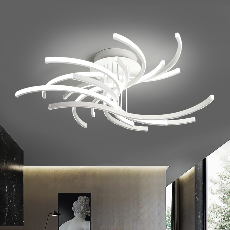 Bedroom LED ceiling lamp blossoming lamp creative decorative flower ceiling light restaurant book room lighting lamp ZSH5047
