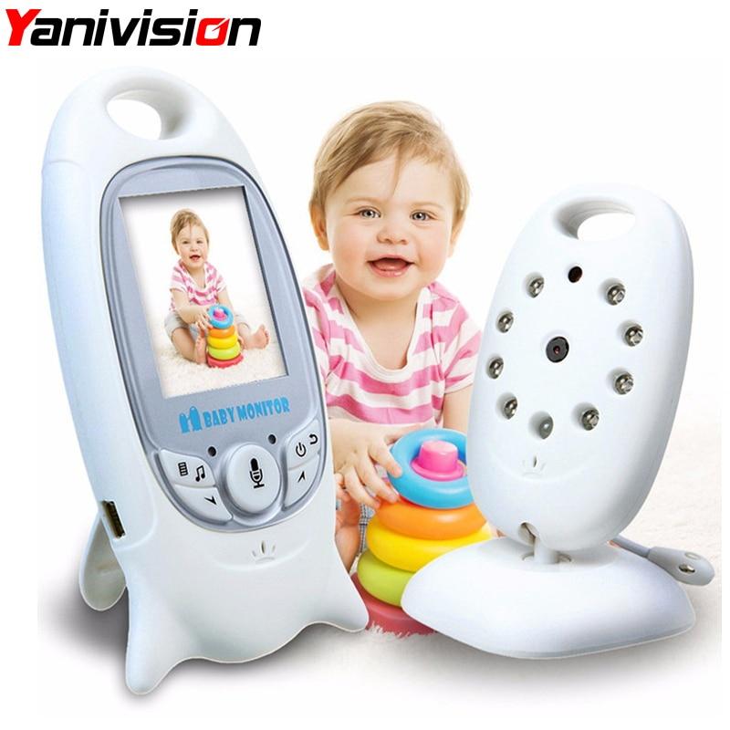 Беспроводной Детский монитор 2 дюймов BeBe Baba электронный няня Радио Видео няня камера ночного видения контроль температуры VB601