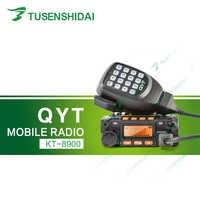 Original QYT 25 W DTMF/2 tono/5 tono doble banda VHF UHF aficionados transceptor de Radio + programación cable y Software