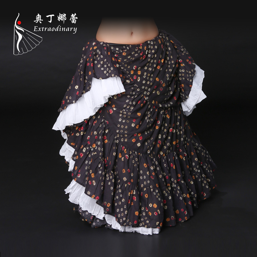 Lady s Belly Dance Skirt Adult Women s Cotton Skirt Stage Dance Costume Traditional Dance Performance