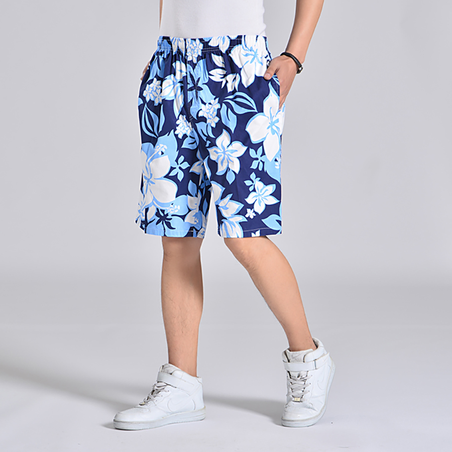 Floral Print Shorts Men Elastic Waist Beach Board Plus Size Man Swimwear Short Masculino Praia  Activewear Mens Shorts Sea 6d020 1