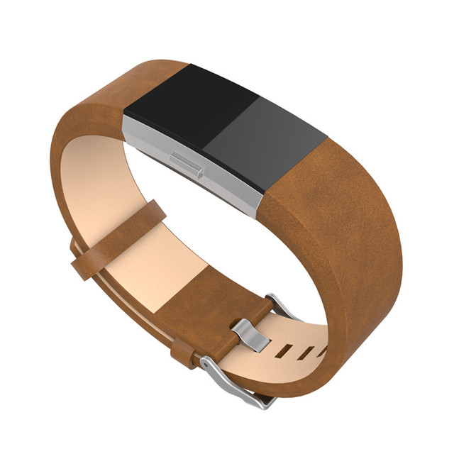 2017 Top Sales! COMLYO Genuine Leather Band For Fitbit Charge 2 Charge2 Smart Bracelet Strap Replace Watchband With Steel Buckle