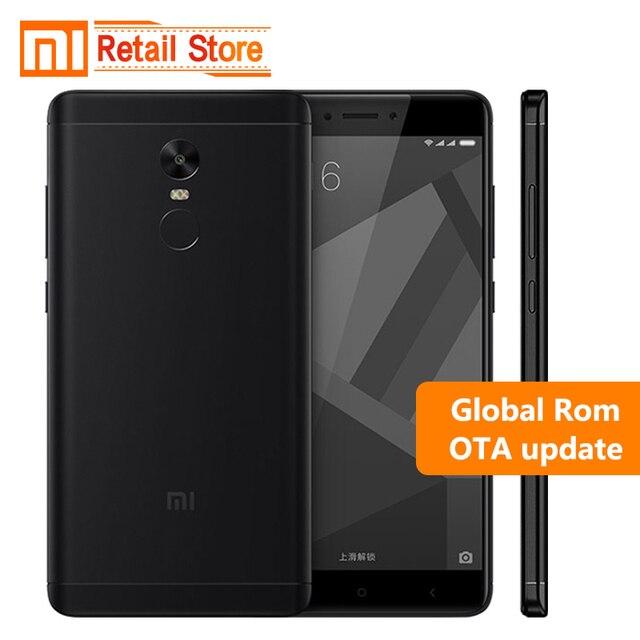 "Оригинал Xiaomi Redmi Note 4X3 ГБ 32 ГБ Мобильного Телефона 4 Х Snapdragon 625 Octa Ядро Смартфон 13.0MP 5.5 ""отпечатков пальцев ID 4 Г LTE"