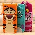 Para iphone 5 5s se 6 6 s 6 plus 3d dos desenhos animados sulley tigre alice cat silicone suave tampa traseira phone case para iphone 6 s ALÉM de