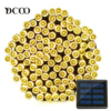 Vmanoo Solar LED String Lights 72ft 22meter 200 LEDs 8 Modes Fairy Christmas Lights Outdoor Garden