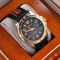 Marca de luxo curren homens relógio pulseira de couro relógios homens relógio dos esportes da forma do relógio de quartzo casuais mulheres se vestem relógio de pulso 1041