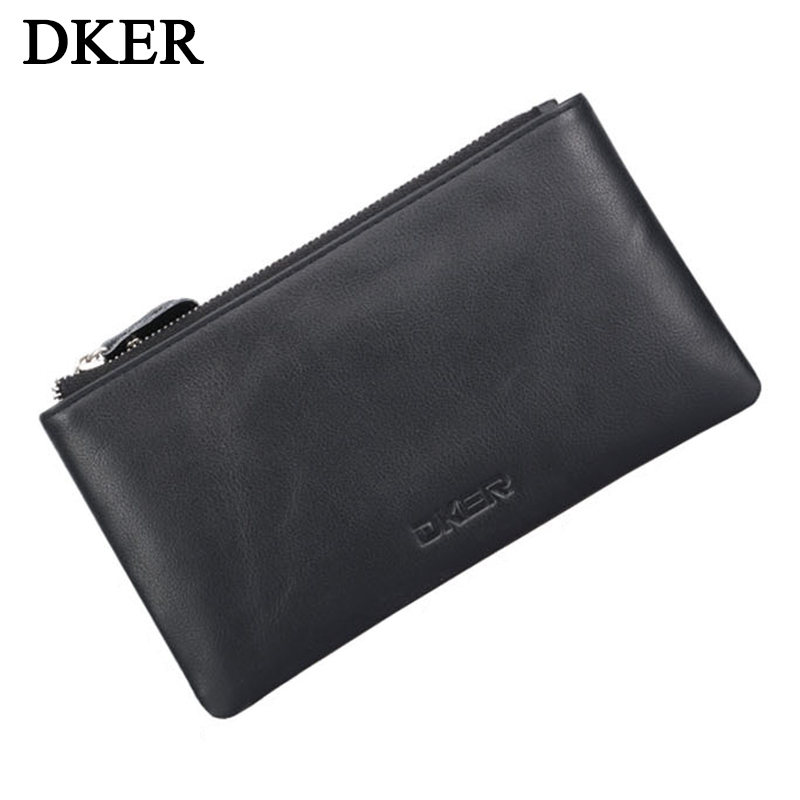 Genuine Leather Men Wallets Coin Purse Business Wallet Cow Leather Credit Card Holder Money Pocket Purse Male Wallet Long MWS119  new sale fashion genuine leather business trends men purse top quality wallet coin pocket purse card free shipping