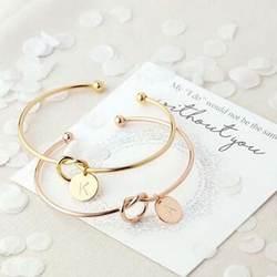 Новая мода Горячая розовое золото/серебро сплав письмо браслет цепочка Снейк женский браслет с шармами Личность ювелирные изделия
