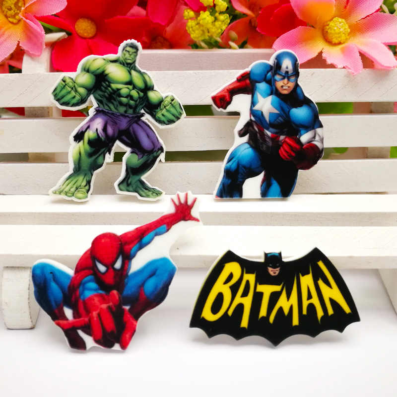 40pcs/Lot Mixed Movie Characters Planar Resin Cabochon Flat Back Scrapbooking DIY Flatback Hair Bow Cente