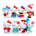8pcs/lot Kawaii Mini Hello Kitty Sport Edition Life Scenes PVC Action Figures Toys Collection Model Toys Landscape Decoration