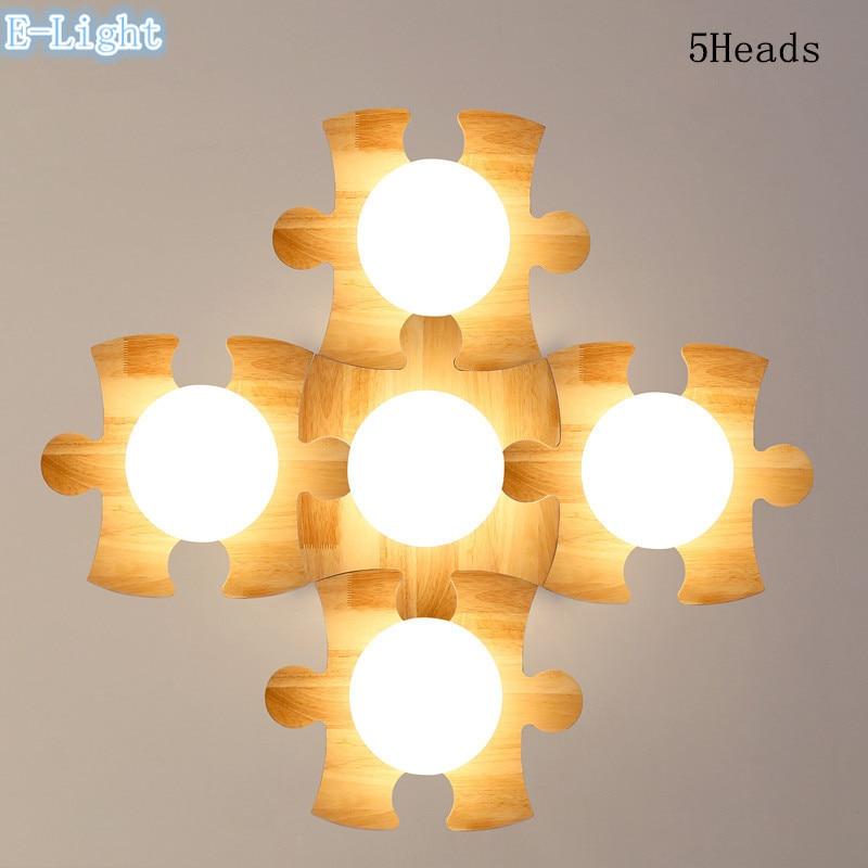 Kreative DIY Holz Deckenleuchten Lampe, freie Kombination ...
