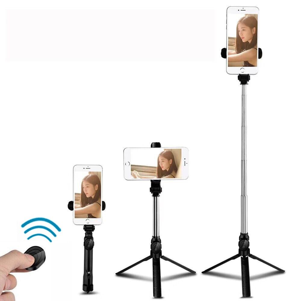 Bluetooth sans fil Selfie Bâton mini trépied monopode extensible Pour iPhone XS XR X 7 6 s Plus Pour Samsung Sony Xiaomi Redmi