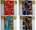 Das Mulheres livres do Transporte Hand-Made Pintado Kaftan Robe Vestido Kimono Banho Pijamas Projeto Do Dragão