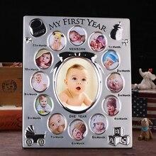 Meu primeiro ano presente do bebê crianças presente de aniversário casa decoração da família ornamentos 12 meses foto quadro livre personalizado foto