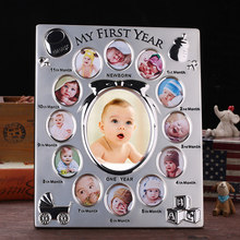 My First Year Baby Gift Kids Birthday Gift Home Family Decoration Ornaments 12 Months Picture Photo Frame Free Customized photo(China)