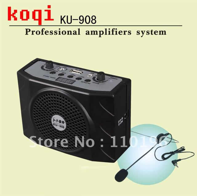 DHL Freeshipping 25 W Professional Audio Mini Amplifier Is Ideal For Teachers and Tour Guides (KU-908)