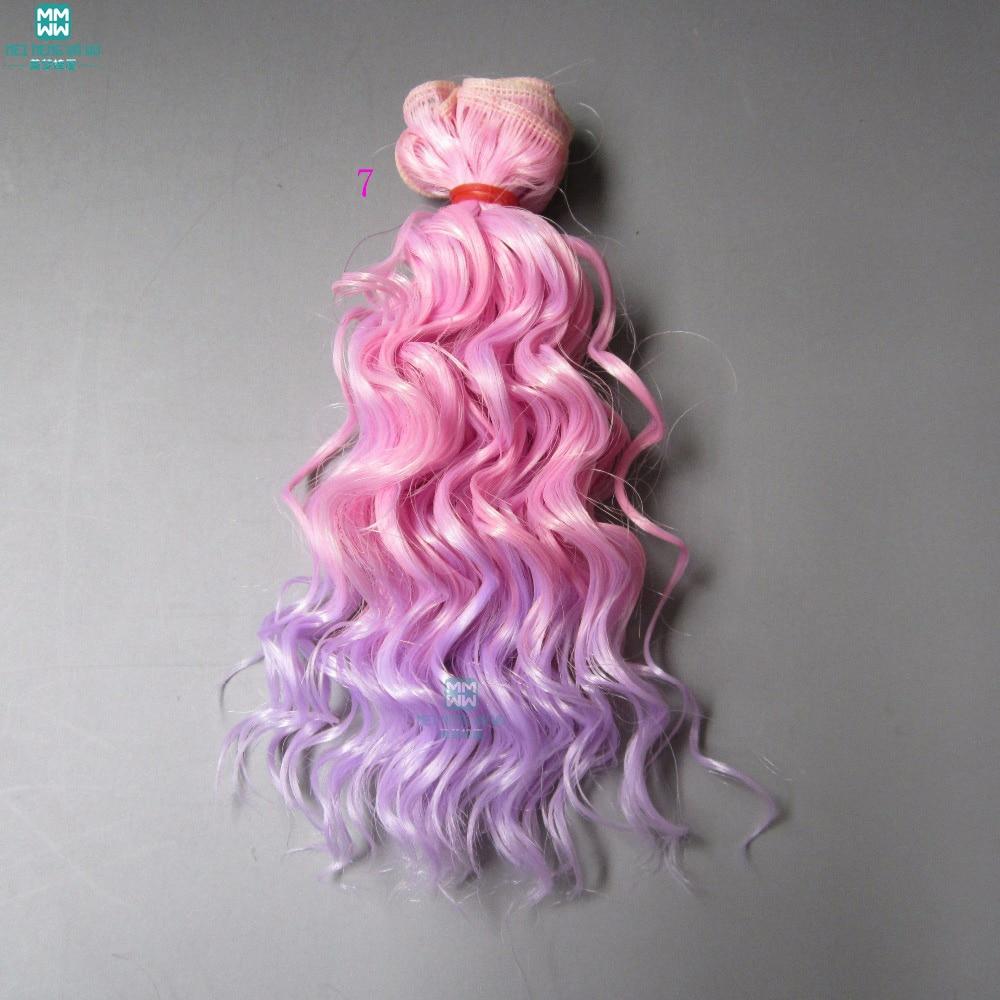 1pcs 15cm et 25cm * 100CM La laine d'imitation roule les cheveux pour - Poupées et accessoires - Photo 5