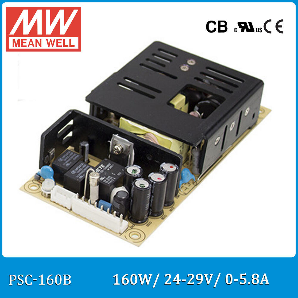 Original Meanwell PSC-160B 160W 24~29V 0~5.8A security power supply battery charger(UPS function) PCB type лопата truper psc b ws 33813