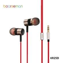 Оригинальный boarseman KR25D Проводные Наушники Hi-Fi наушники шумоподавлением Super Bass Auriculares гарнитуры для всех мобильных телефонов ПК
