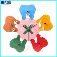 2018 deasin hot sale dental decorations crafts dentist gift dental colock for Clinic dental wall clock