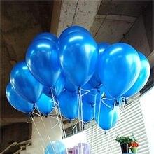 10 sztuk/partia niebieski 10inch 1.5g Pearl lateksowe balony powietrza nadmuchiwane balony ślubne dzieci Birthday Party Decoration balony