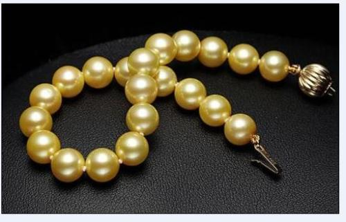 AAA+10-11MM NATURAL SOUTH SEA GENUINE GOLD PEARL BRACELET 7.5 -8 INCH>>>  women jewerly Free shipping