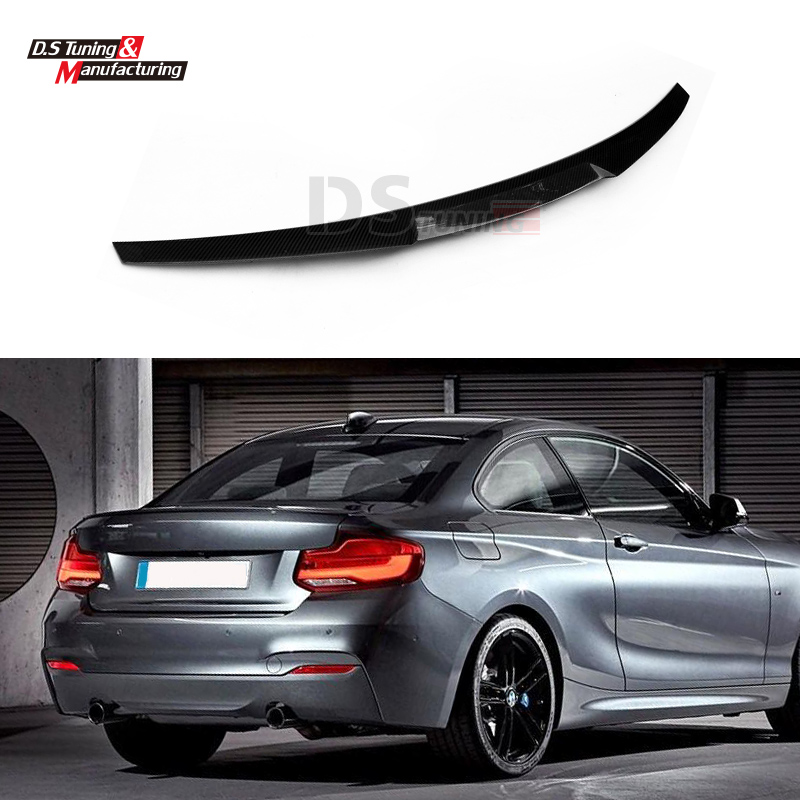 F22 M4 Style Carbon Fiber Spoiler Wing Fits BMW 2 Series F22 F23 2014 2015 2016 2-Door Coupe M235i 218i 220i Rear Trunk Spoiler набор бокалов crystalex виола золотая спираль 2шт 350мл вино стекло