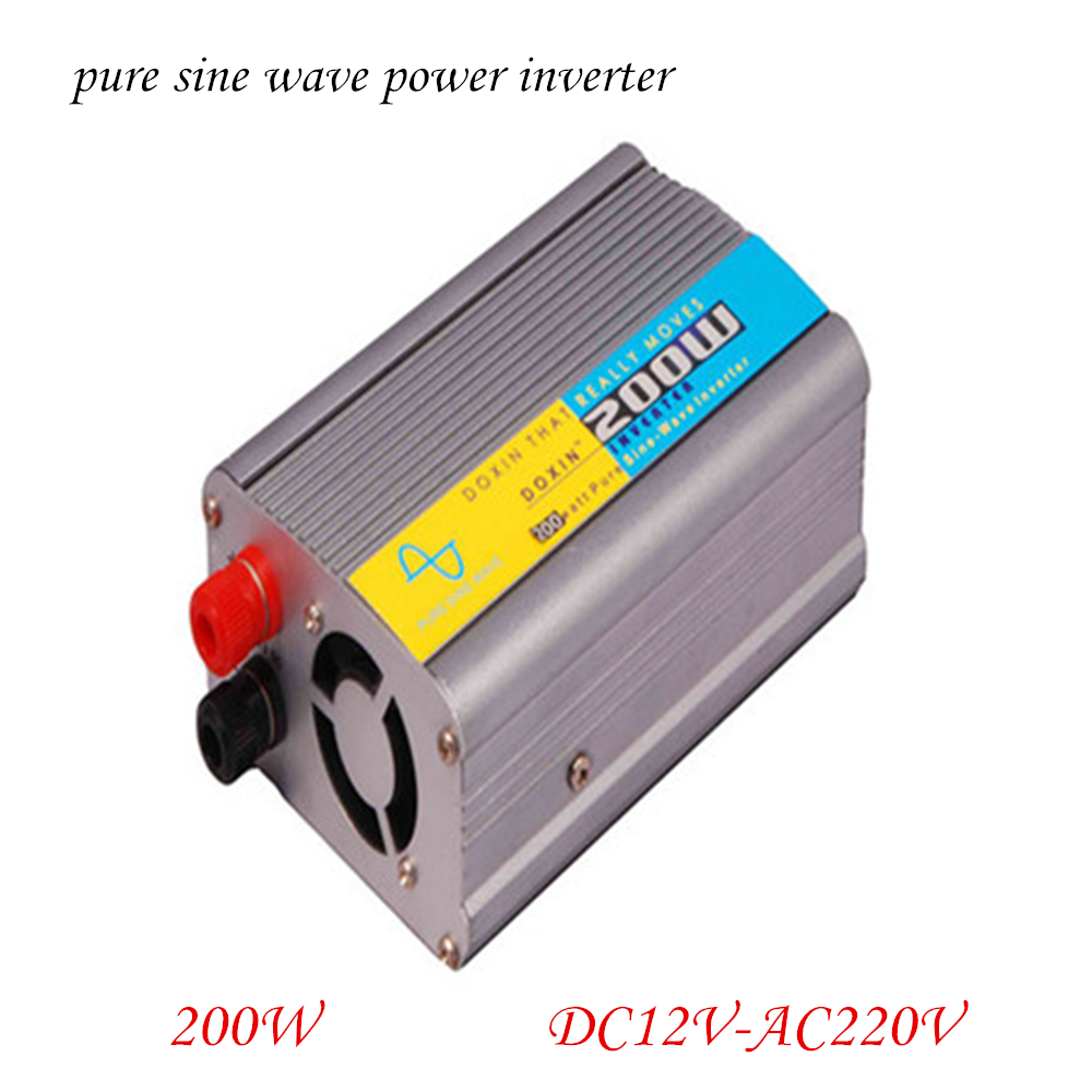Doxin DC to AC Vehicle Power Inverter Pure Sine Wave 12V TO 220V 200W Car Inverter Free Shipping