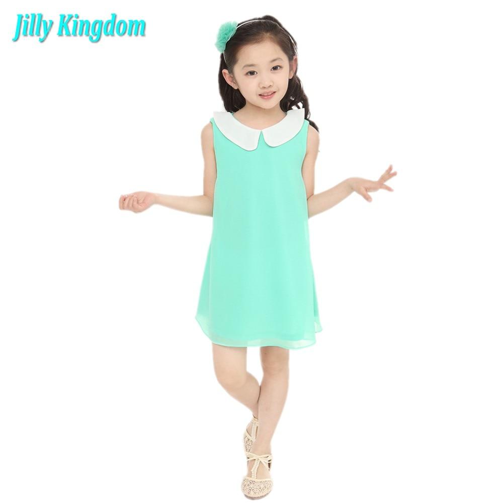 2018 nyári szifon ruha új lány ruha új ingyenes szállítás 3-11 - Gyermekruházat
