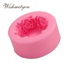 WISHMETYOU Silicone Soap Mold Round Rose Wedding Decoration Cake Decorating Tools Shape For Handmade Craft