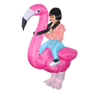 Image 4 - Flamingo Inflatable Costume Christms Mascot  Costume For Women Adults Kids halloween Cartoon Anime Mascot Cosplay For Party