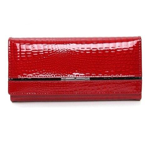 genuine leather women wallets alligator ladies leather wallet luxury brand women purse long female clutch purses Lahore