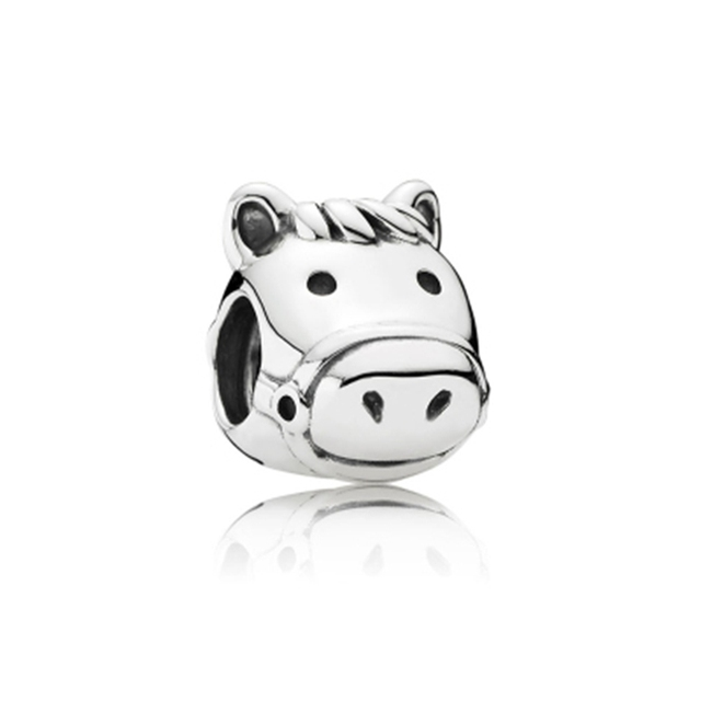 Fit Original Pandora Bracelet Femme 2020 DIY Chick Cat Panda Cow Pig Deer Dog Rabbit Pony Beads Animal Charms For Women Pulseira