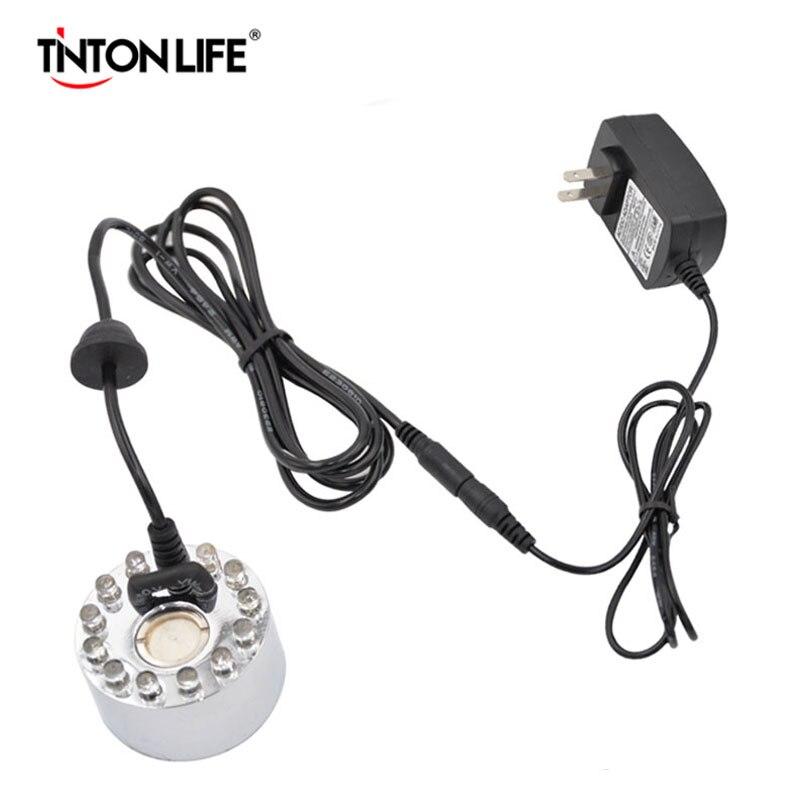 TINTON LIFE 12 LED 400 mL/H incubadora Industrial humidificador ultrasónico Mist Maker 16mm Fogger fuente de agua de estanque humidificador de aire