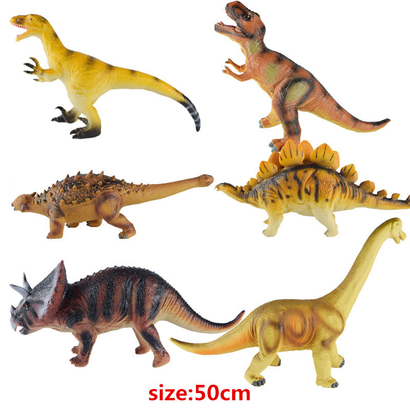 Big Size 50cm Dinosaur Toy 6 Styles Action Figures Soft Animal Model Boy Toy for Children Birthday Gift