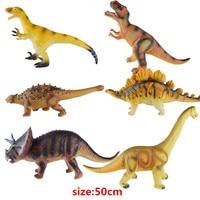 Big Size 50cm Dinosaur Toy 6 Styles Action Figures Soft Animal Model Boy Toy for Children Birthday Gift