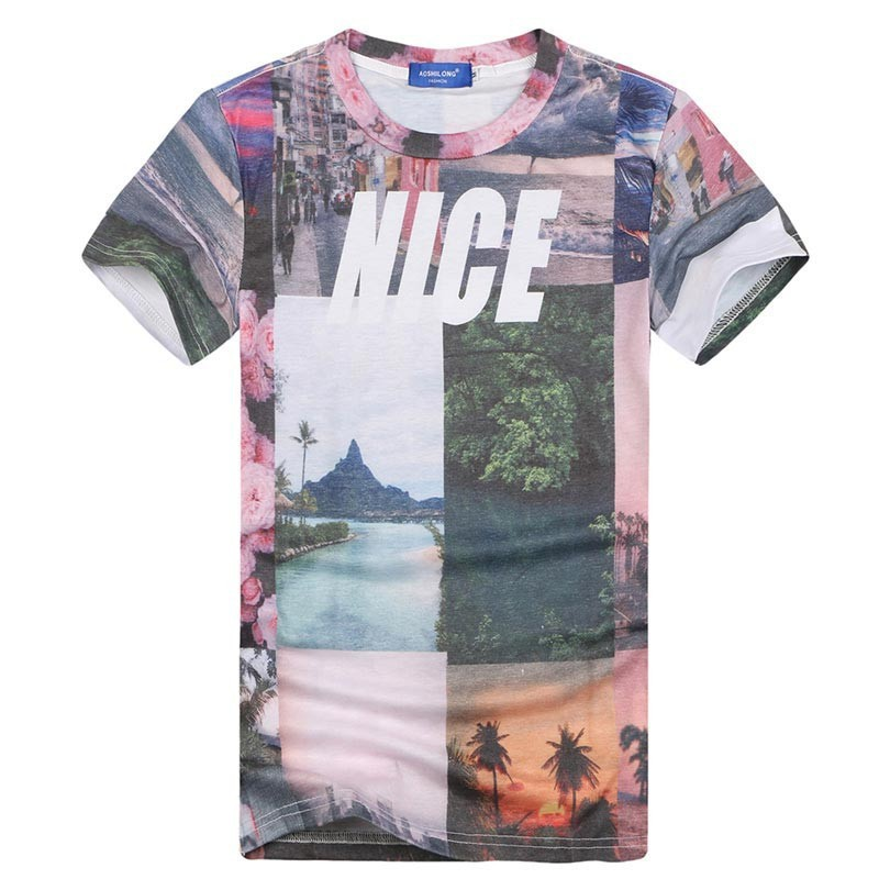 2015 NICE Scenery t shirt for men 3d tshirt tops summer tees ...