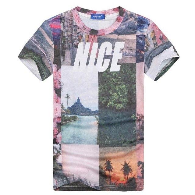 2015 NICE Scenery t shirt for men 3d tshirt tops summer tees ...
