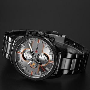 Image 4 - 新しいカレン高級ブランド腕時計男性クォーツのファッションカジュアル男性スポーツ時計フルスチールミリタリー腕時計レロジオmasculino