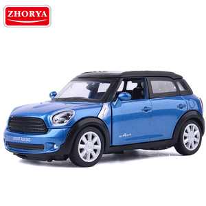 Zhorya 1:32 High Simulation Mini Metal Cars Model Pull Back Vehicles Diecast Toys Door-open with Light Music For Children Gift