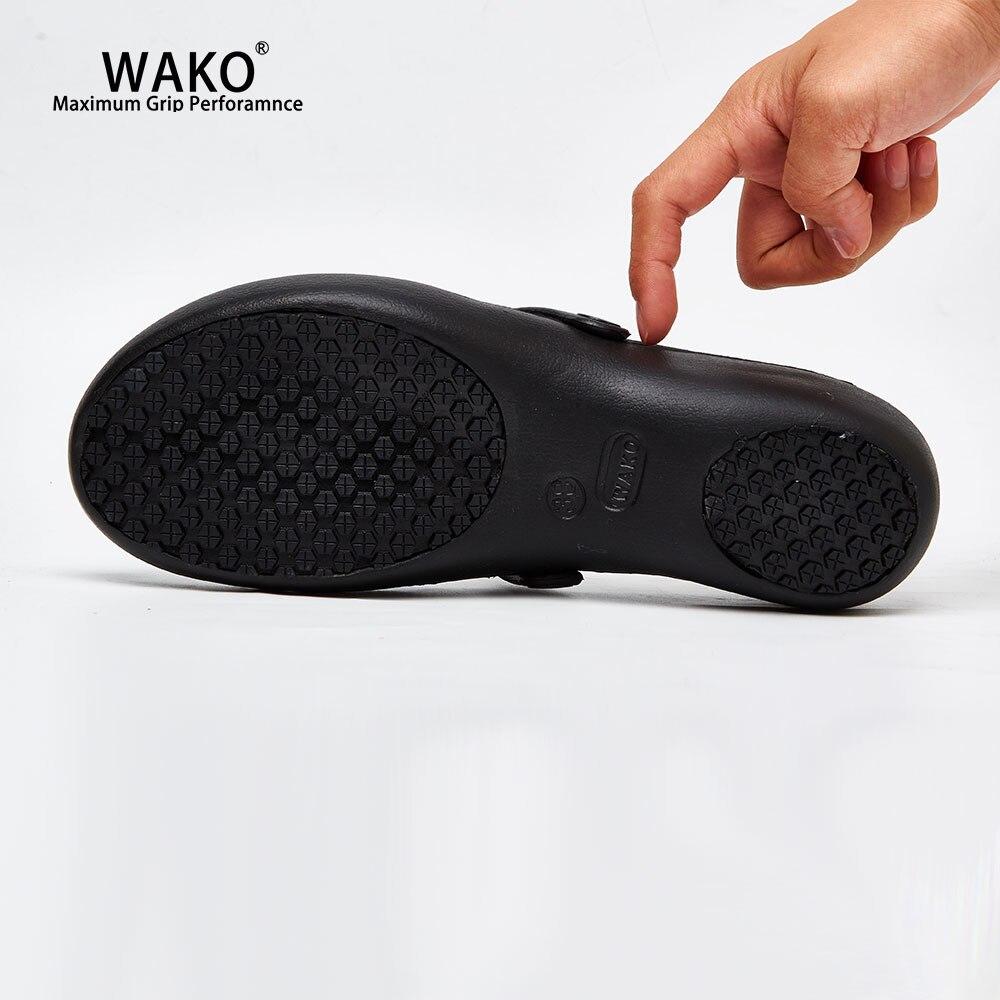 Wako Women Chef Shoes Non Slip Kitchen Safety Anti Skid Cook Sandals