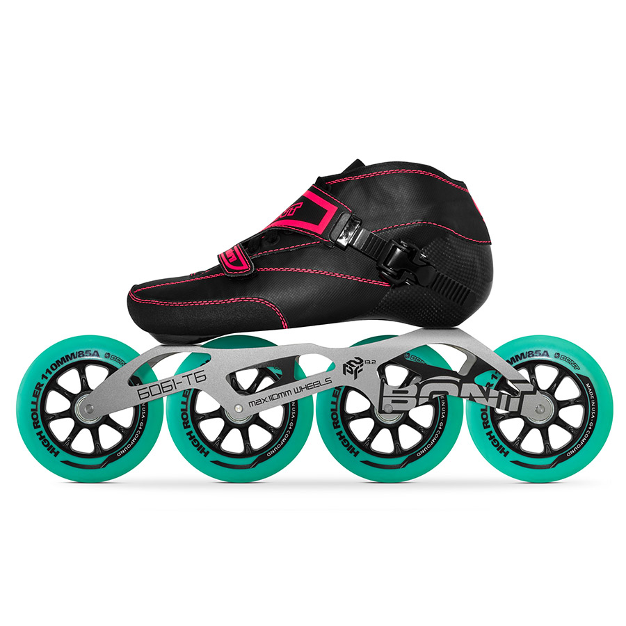 100% Original Bont Enduro 2PT Speed Inline Skates Heatmoldable Carbon Fiber Boot 4*90/100/110mm Highroller Wheel Skating Patines цена