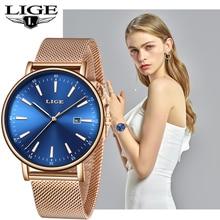 LIGE Women Watches Top Luxury Brand Slim