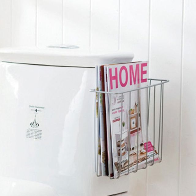 Storage Rack Finishing Frame Toilet Wall Magazine Shelf