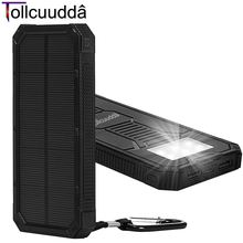 Tollcuudda Portable Phone Charger Battery Cargador Solar Power Pover Bank For IPhone6 Xiaomi External Powerbank Mobile Power Box