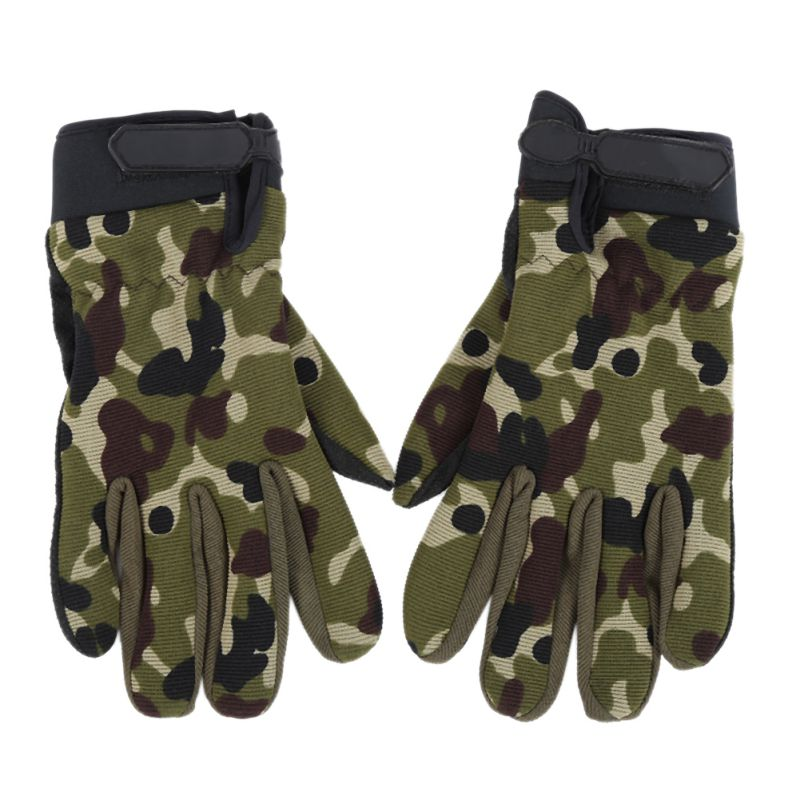 New Half-Finger Outdoor Racing Palm Brace Camouflage Wrap Cycling Sports Gloves