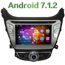 "Android 7.1 8"" HD 2GB RAM Quad Core 4G DAB WiFi Multimedia Car DVD Player Radio Stereo GPS Navi For Hyundai Elantra 2014 2015"