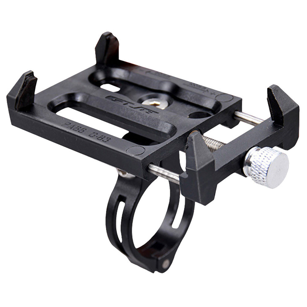Bike Phone Holder Practical Aluminium Alloy Phone Mount Bracket Stand Mountain Bike Mobile Phone Holder Bicycle Phone Holder foldable portable phone flat bracket