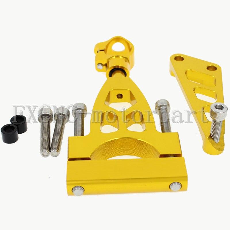 ФОТО FXCNC Gold Aluminum Steering Damper Stabilizer Bracket Mounting Support Kits Fit For  HONDA CB400 VTEC 19991999-2010